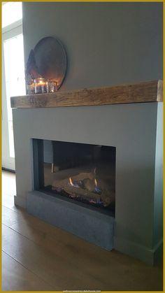 Home Fireplace, Modern Fireplace, Living Room With Fireplace, Fireplace Design, My Living Room, Minimalist Fireplace, Concrete Fireplace, Sitting Room Decor, Country Interior Design