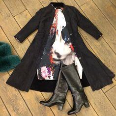 """Дубленка #studio2012 платье #msgm #sale50 сапоги #veroniquebranquinho #sale30 шарф из меха лисы #msgm #sale30"""
