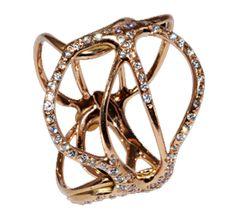 Tatuaggio ring in rose gold with diamonds by Luna Scamuzzi