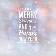photo about merry christmas and happy new year card holiday background and lettering can be easily used together or separately illustration of holiday