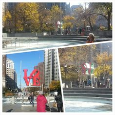 Love Park in Philly!  And yes, I did skate it for a few.  #lovepark #philly #pennsylvania #philadelphia  #travel #park #bucketlist