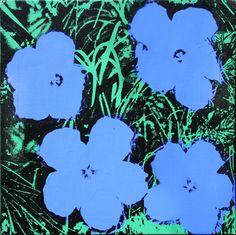 'Blue Flowers' Andy Warhol