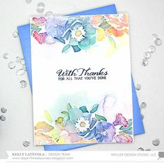 Stamp Away With Me: Muted Watercolor with Kelly