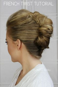 French Twisted Updo Tutorial