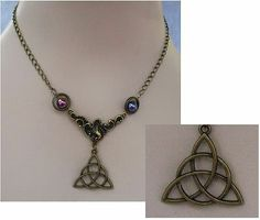 Burnished Gold Celtic Trinity Knot Pendant Necklace Jewelry Handmade Accessories http://cgi.ebay.com/ws/eBayISAPI.dll?ViewItem&item=161167581961