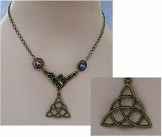 Burnished Gold Celtic Trinity Knot Pendant Necklace Jewelry Handmade Accessories http://cgi.ebay.com/ws/eBayISAPI.dll?ViewItem&item=161167581961