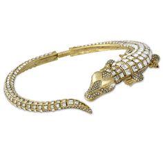 Crystal Alligator Necklace