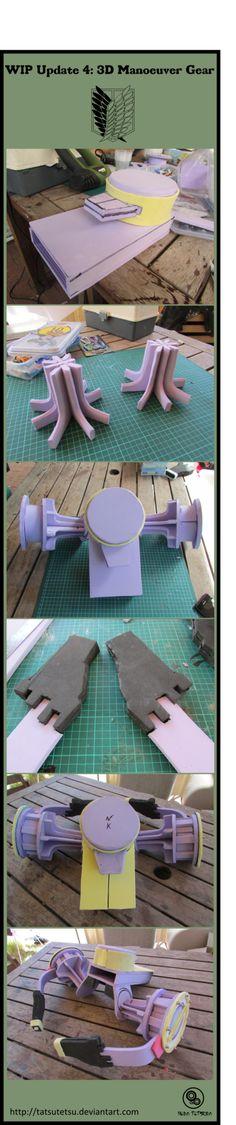 Shingeki no kyojin :3D Manoeuvre Gear WIP Update 4 by Tatsutetsu