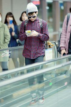 141028- EXO Xiumin (Kim Minseok); Shenzhen Airport to Incheon Airport #exom