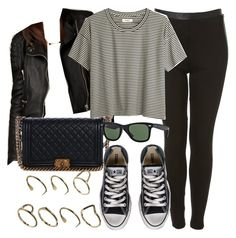 """Style #8872"" by vany-alvarado ❤ liked on Polyvore featuring Burberry, Madewell, Chanel, Converse, Ray-Ban and ASOS"