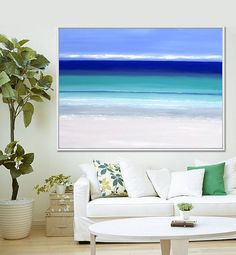 Seascape Abstract Print Abstract Painting by serenartstudio