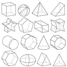 shapes 3d drawing draw basic form practice geometric perspective figures geometry polygons technical vector google