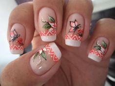 For all of you looking for summer nails ideas, we have selected 20 adorable butterfly nail art designs to inspire you. Butterflies on the nails are Girls Nail Designs, Flower Nail Designs, Cute Nail Designs, Butterfly Nail Art, Flower Nail Art, Trendy Nails, Cute Nails, Airbrush Nails, Nagel Hacks