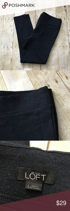 """Navy Pointe Leggings. NWOT New without tags. Navy. Same color stripe down side. Materials in last photo. Good quality. Inseam measures 26.5"""". Thick waistband. Some stretch. Waist across lying flat measures 17.5"""".  ❌ No trades or off Poshmark transactions.   👌🏻Quick shipping.   💁🏻Offers welcome through """"Make an Offer"""" feature.   👗👠 Bundle discount.   ❔ Feel free to ask any questions. LOFT Pants Leggings"""