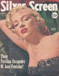 Marilyn on the cover of Silver Screen magazine, 1952.