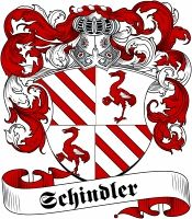 Schindler  family crest / coat of arms from www.4crests.com #coatofarms #familycrest #familycrests #coatsofarms #heraldry #family #genealogy #familyreunion #names #history #medieval #codeofarms #familyshield #shield #crest #clan #badge #tattoo
