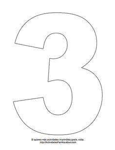 Dibujos de números para colorear: Número 3 para colorear Embroidery Flowers Pattern, Flower Patterns, Abc Coloring Pages, Five Little Monkeys, Princess Coloring, Unicorn Party, To My Daughter, Clip Art, Printables