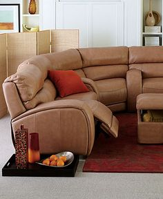 Dylan Leather Sectional Living Room Furniture Collection Reclining