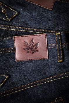 Maple Motorcycle Jeans - Leather patch
