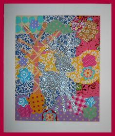 Button Fayre textile art deer piece