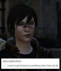 Sarcastic Hawke is me...probably why I love her too much lol