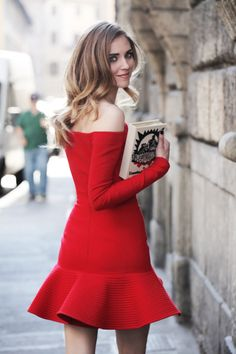 A red dress and a book | The Blonde Salad