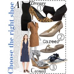 Choose the right shoe for a dress