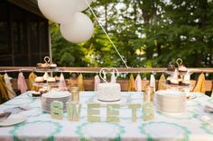 DIY dessert table wedding | Maggie & Shahul's intimate Virginia wedding at Lake Anna | Images: Photography by Anna Clark