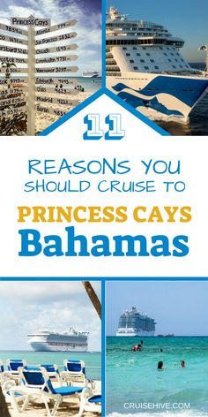 Find out why you should be taking a cruise to Princess Cays, Bahamas. Cruise tips on things you can do at this stunning private Caribbean cruise destination with Princess Cruises. Best Cruise Deals, Best Cruise Ships, Disney Cruise Ships, Cruise Tips, Cruise Travel, Cruise Vacation, Bahamas Vacation, Bahamas Cruise, Caribbean Cruise