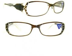 fa02b86bb85 Brown Gradient Crystal Rhinestone Reading Glasses +2.50 by Crystal Case.   19.99. Read in