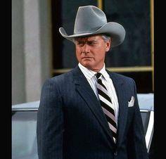 Sci Fi Shows, Tv Shows, Southfork Ranch, Falcon Crest, Dallas Tv Show, Larry Hagman, Handsome Older Men, Linda Gray, Cowboy Gear