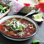 Birria is usually made with goat's meat or even with lamb or a combination of several types of meat. (Beef Birria) Enjoy !
