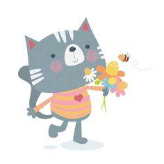 Sam Walshaw illustration: Cute Kitty