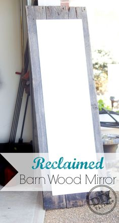 Reclaimed barn wood mirror #ad #SeriouslyStrong