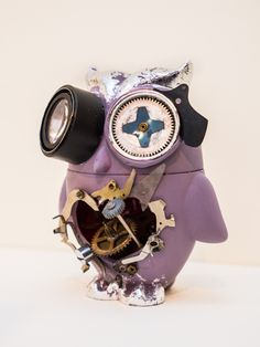 "Custom vinyl toy by Paula Ibey. Part of the ""Toying Around"" show February 2013.     **Shipping is not included"