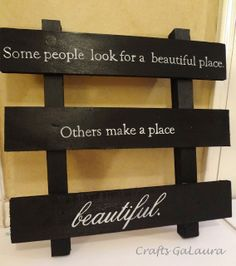 Black Pallet Quote Wall Hanging ~ Crafts GaLaura
