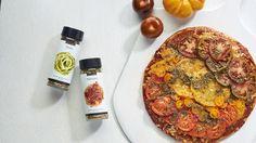 Grilled Rainbow Tomato Pizza