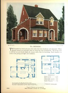 The DENNING - Home Builders Catalog: plans of all types of small homes by Home Builders Catalog Co.  Published 1928