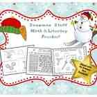 Don't miss this freebie!  This Common Core based, snowman-themed freebie pack contains 10 pages of math & literacy activities. There are 3 pages of cut-and-glue CC math, an 8-page emergent reader, a snowman writing page, 2 pages of add & read sight word sentences, an addition game, and a full-color bump game. This set is appropriate for use in PreK to first grade.
