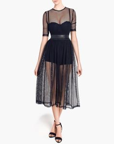 Different aspect - Udela Mesh Dress Gaya Zahari Couture Sexy Dresses, Formal Dresses, 2015 Trends, Dope Fashion, Womens Fashion Online, Mesh Dress, Dresses Online, Designer Dresses, Tulle