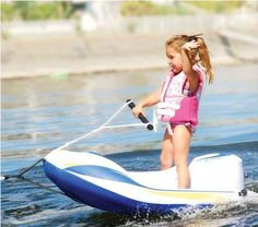 The Childrens Water Ski Trainer - Hammacher Schlemmer ~~~ DCS.just pretend this is a little jet ski. Ski Boats, Cool Boats, Lake Toys, Buy A Boat, Outfits Niños, Boat Accessories, Boat Stuff, Kid Stuff, Ferrari 458