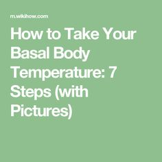 how to take your basal body temperature