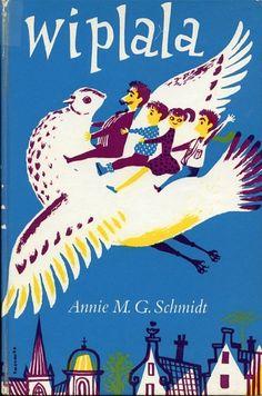 Wiplala, roman (159 p.), texte de Annie M. G. Schmidt, illustrations de Jenny Dalenoord (Pays Bas), traduction d'Henrietta Anthony, London, New York : Abelard-Schuman, 1962