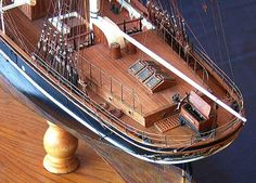 Cutty Sark ship model detail