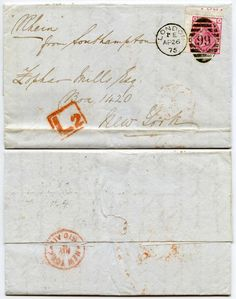 GB QV LATE FEE L2 BOXED 1875 THREEPENCE Pl.16 PART INSCRIPTION to ZOPHAR MILLS | eBay