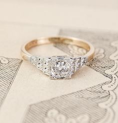 1940s Illusion Setting Engagment Ring, $725.00