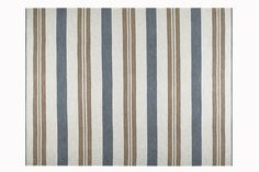 """""""Perennials makes the most durable floor coverings in really versatile patterns. Their handsome striped rugs enrich the character of almost any room and are exceptionally chic on a sunporch or in a greenhouse."""" —Mariette Himes Gomez Happy Trails rug by Perennials; perennialsfabrics.com"""