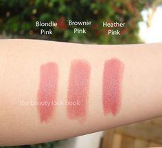 The Beauty Look Book: Bobbi Brown Blondie Pink, Brownie Pink & Heather Pink Lipsticks