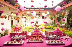 Festa cor de rosa