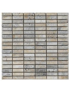 Marbleandthings is a leading US importer and wholesaler of Philadelphia Scabos Travertine Brick Grid Pattern Tumbled Mesh Mounted Mosaic Tile.
